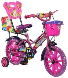 eStofers® Ollmii™ Bikes, 14 Inch Kids Cycle With Side Wheels Material: Iron; Bike Size (Height of User): 43 cm to 50 cm Colour: Pink; Is Battery Operated: No Bike Type: Kids' Bikes Tween Girl Gifts, Tween Girls, Disney Princess Bike, Unicorn Cupcakes Toppers, Kids Cycle, Crayola Supertips, Beautiful Good Night Images, Baby Girl Dress Patterns, Halloween Disfraces
