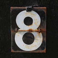 #8 Cricket scoreboard number by Leo Reynolds