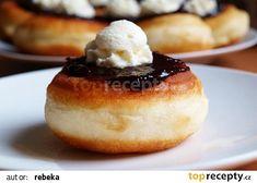 Bavorské vdolečky recept - TopRecepty.cz Lollipop Candy, Czech Recipes, Candy Cookies, World Recipes, Beignets, Dessert Recipes, Desserts, Whipped Cream, Food To Make