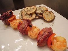 A Pirate's Journey in the Kitchen: Surf & Turf Skewers with Grilled Potato Salad