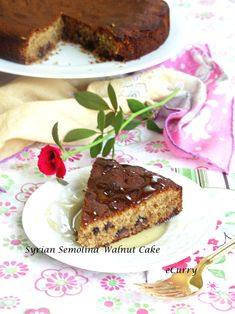 Syrian Walnut-Semolina Cake with Figs and Chocolate @FoodBlogs