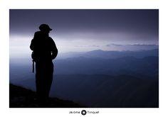 Crépuscule au sommet du mont Ventoux.