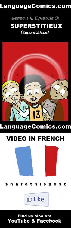 Practice your pronunciation and learn #French with this episode and many more. Enjoy and share!  http://www.youtube.com/watch?v=K4-FHGZSm-g  ---------------------------------------------  Also find us on http://www.Facebook.com/LanguageComics and http://www.YouTube.com/LanguageComicsTeam