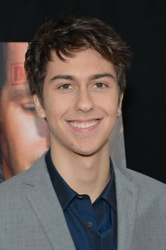 Nat Wolff is nerdy awkward my kind of cute lol