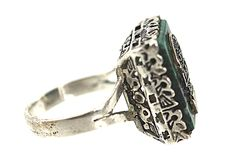 Sterling Silver Chrysocolla Ring Peru – Yourgreatfinds