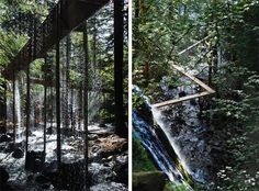 Bridal Veil Creates a Curtain of Water Through the Forest - Landscape Architects Network