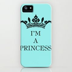 I'm a princess iPhone & iPod Case by Louise Machado - $35.00