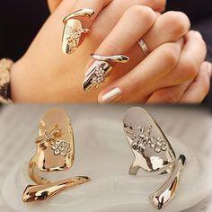 Dragonfly Nail Tip Ring
