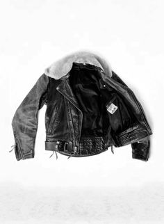 finding comfort in a leather jacket