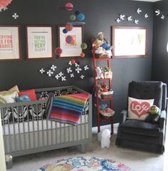 Not for me, for Mike and Audrey. Same color as Caleb's room but with some girly touches. Shared Nursery And Toddler Room