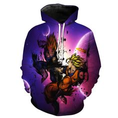 Super Saiyan Vegeta VS Super Saiyan Goku In Space Dragon Ball Z Hoodie