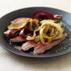 Weight Watchers Flank Steak with Triple Grilled Onions: 7 Points+