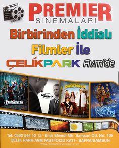 Premier Sinemaları ÇelikPark AVM'de Açıldı! Park, Baseball Cards, Film, Sports, Hs Sports, Movies, Film Stock, Film Movie, Parks