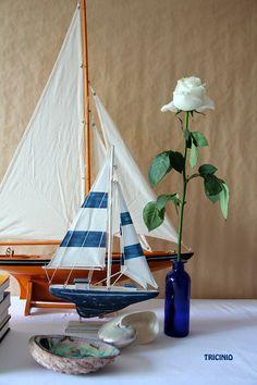 Tricini El mar, la playa, flores, conchas, decoración, barcos, veleros