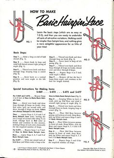 Basic Hairpin Lace Instructions