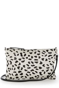 LEATHER LEOPARD PROFILE CLUTCHFabric: Main: 100.0% Leather.Wash care: Do Not CleanProduct code: 02393377 Price: £40.00