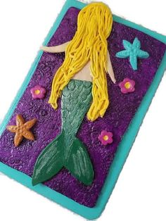 Mermaid journal Mermaid notebook polymer by CarrieLeeCuriosity