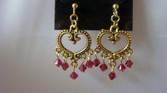 Swarovski bicone crystal earrings