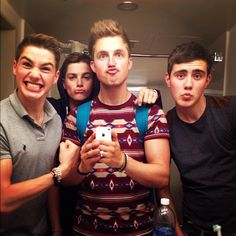 Jack Harries, Finny Harries, Marcus Butler, and Alfie Deyes. :)