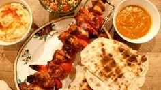 **The Shawarma feast. ...Chicken , flatbread, hummus, Tabbouleh &Amba sauce** Jamie Olivers Comfort Food**