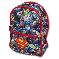 Superman Backpack (Reversible) ($40) ❤ liked on Polyvore