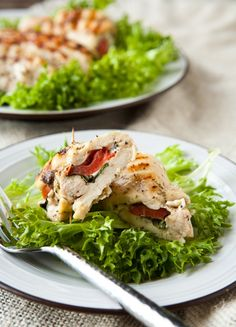 Grilled and Stuffed Chicken Caprese