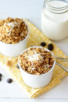 Big Batch Coconut Oil Granola - Yum! This is a great, budget-friendly breakfast option. It's fabulous on its own or as a topping for things like yogurt.