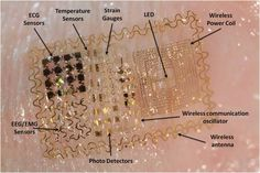 Skin-like Electronics for Brain-Computer Interfaces (#BCI). Foldable, stretchable electrode arrays that can non-invasively measure neural signals like electroencephalography (#EEG). Work done by the Neural Interaction Lab of Todd Coleman at UCSD in conjunction with John Rodgers at UIUC.