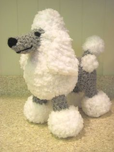 Crocheted Poodle Stuffed Animal Pattern by ScareCrowOriginals
