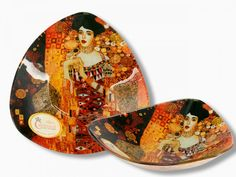 Sklenená miska 17x17 G. Klimt Adela