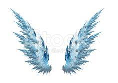 Asas de Anjo Azul fundo branco vetor e ilustração royalty-free ...