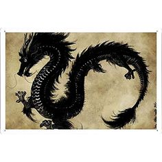 This is incredibly late, but as promised, here's a rendered dragon for the New Year! The dragon is my zodiac animal so I was all like \o/ doing this . Year of the Black Water Dragon 2012 Chinese Dragon Art, Asian Art, Black Dragon, Eastern Dragon, Japanese Dragon, Art, Year Of The Dragon, Japanese Tattoo, Hope Art