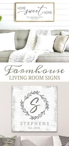 Farmhouse Living Room Signs Farmhouse Living Room Signs & personalize your living room with farmhouse signs from Etsy! Buy premade or customize your own sayings. The post Farmhouse Living Room Signs & Photo/Decor Wall appeared first on Farmhouse decor . Diy Interior, Living Room Interior, Home Living Room, Living Room Designs, Living Room Decor, Living Room Quotes, Bedroom Decor, Warm Home Decor, Home Decor Kitchen
