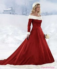 When I was little I said when I got married I would wear a white velvet dress and my bridesmaids would wear a red velvet dress and I would get married at Christmas time. Well, that didn't happen, but I love this dress for a winter wedding maybe even outside. And of course, carry a muff!