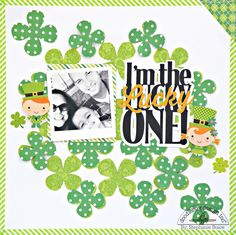 Doodlebug Design Inc Blog: Happy-go-Lucky: I'm the Lucky One Layout by Stephanie Buice.