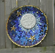 full moon mirror mosaic