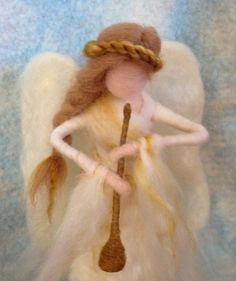 Aguja de fieltro Angel Tree Topper Waldorf