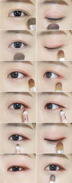 3 makeup tips to make your eyes shine like a Korean star! - Make up - 3 makeup tips to make your eyes shine like a Korean star! – Make up - Korean Makeup Look, Korean Makeup Tips, Asian Eye Makeup, Natural Eye Makeup, Korean Makeup Tutorial Natural, Asian Makeup Tutorials, Makeup Ideas, Makeup Hacks, Eyeshadow Tutorials