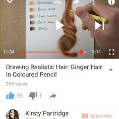 DRAWING GINGER HAIR TUTORIAL NOW ON MY YOUTUBE! Go SUBSCRIBE so you don't miss future tutorials like how to draw black hair.  The link to my YouTube is in my bio❤️❤️ #art #drawing #draw #artwork #drawingoftheday #drawings #sketch #instaart