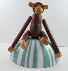 Mid Century Viking Wooden Monkey. $38.00, via Etsy.