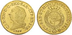 NumisBids: Nomisma Spa Auction 50, Lot 342 : SAVOIA Carlo Emanuele III (1730-1773) Doppia 1766 – MIR 943k AU (g...