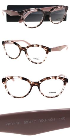 a286a5558f9 Fashion Eyewear Clear Glasses 179248  New Prada Eyeglasses Women Vpr 11R  Pink R0j-101 Triangle 50Mm -  BUY IT NOW ONLY   149 on eBay!
