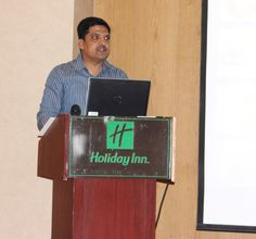 Kiran Aradhye, Finance Manager, presenting the Annual Finance Report