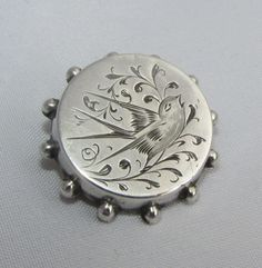 Old antique Victorian silver brooch