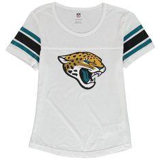 Jacksonville Jaguars Girls Youth Team Pride Burnout Short Sleeve T-Shirt - White