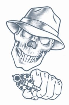 Tinsley Stick Up Skull Prison Tattoo | Dons Hobby Shop