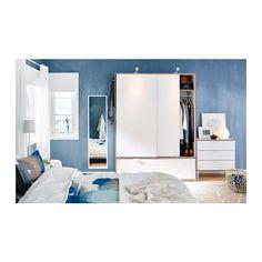 TRYSIL Byrå med 3 lådor - vit/ljusgrå - IKEA