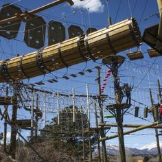 Colorado aerial park with zippiness on the banks of the Arkansas River between Buena Vista and Salida. Great for groups.