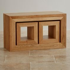 Oakdale Natural Solid Oak Set of 3 Cube Nest of Tables from the Oakdale Solid Oak range by Oak Furniture Land Oak Furniture Land, Solid Wood Furniture, Recycled Furniture, Living Furniture, Rustic Furniture, Home Furniture, Furniture Cleaning, Furniture Online, Furniture Ideas