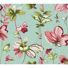 "Watercolors Whimsical Garden 27' x 27"" Floral and Botanical Wallpaper | Wayfair"